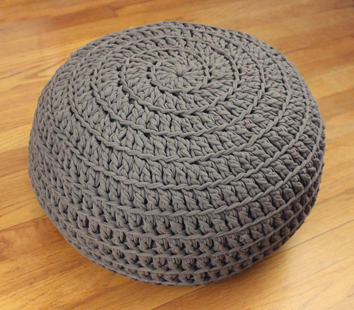 Comfy Crochet Pouf DIY | Pufs, Tejido y Belleza