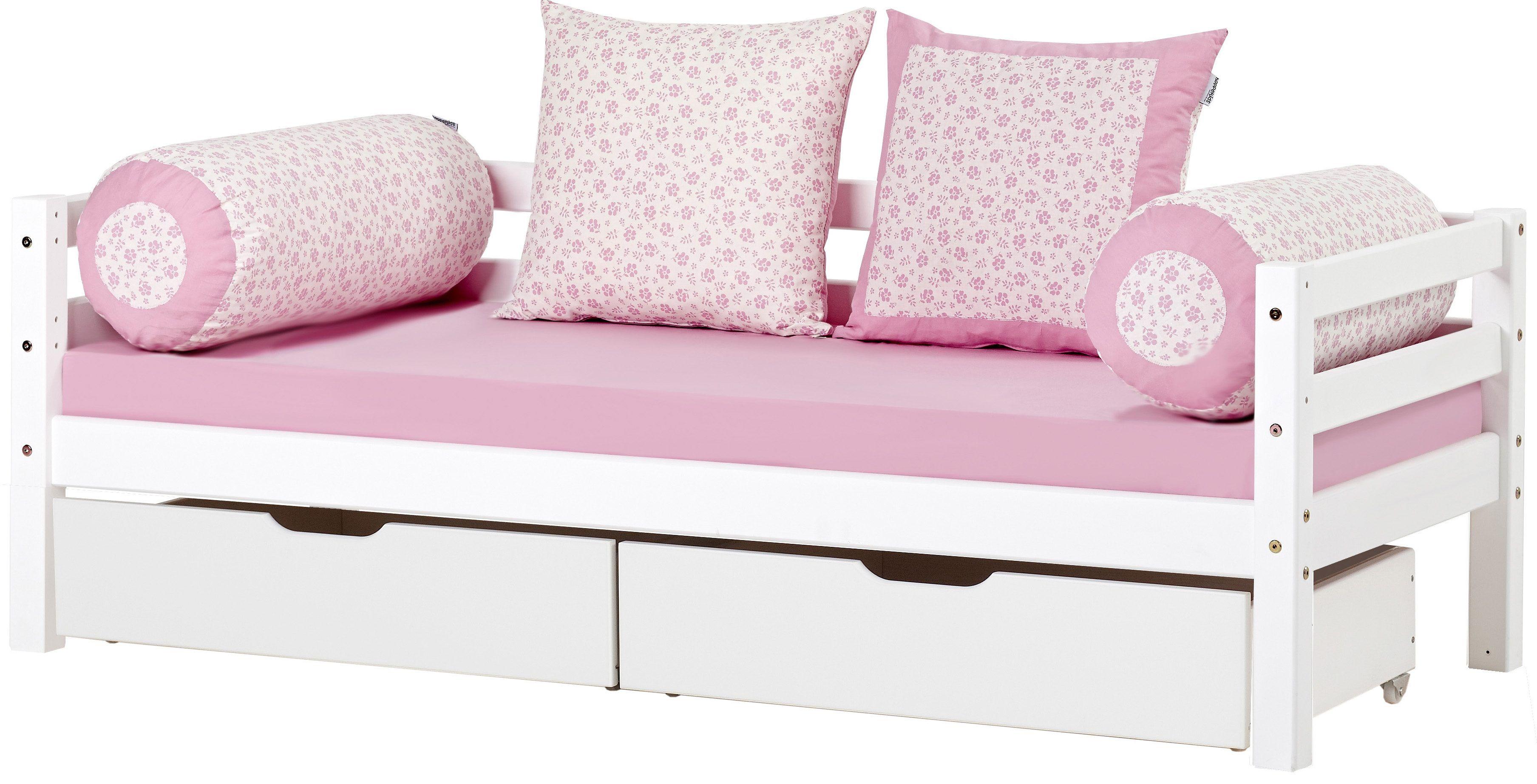 Sofabett kinderzimmer  Hoppekids Sofabett weiß, 70/160cm, »Romantik«, FSC®-zertifiziert ...