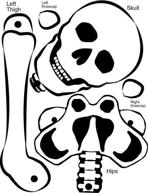 ece0a0e6374 Esqueletos recortables - Dale Detalles. Plantilla para esqueletos móviles  ...