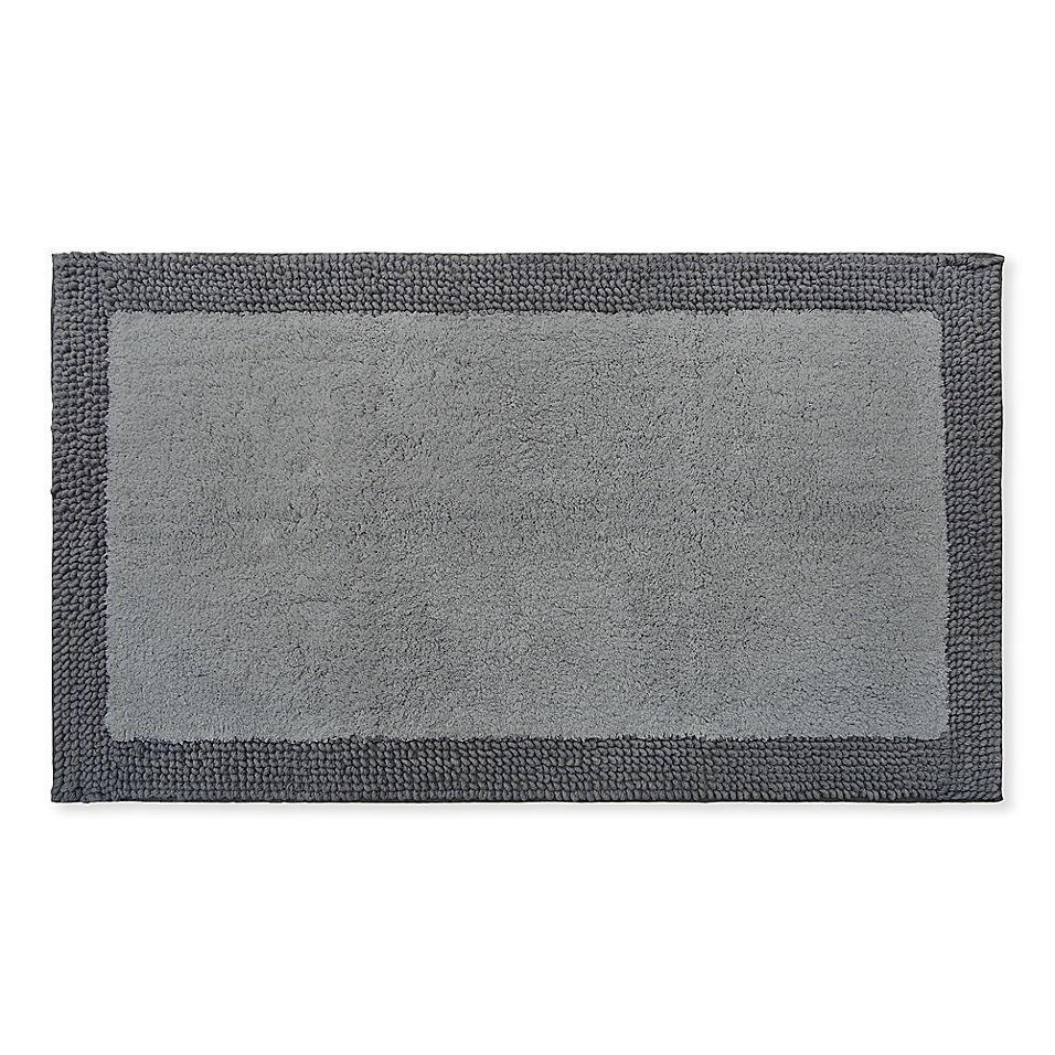 Fashion Frame 24 X 40 Bath Rug In Grey In 2019 Bath Rugs Rugs