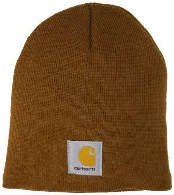 dfe20f5b Carhartt Men's Acrylic Knit Hat, Carhartt Brown, One Size: Clothing ...