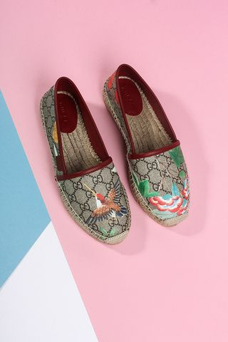 5612b5ee438780 Gucci: Summer Espadrilles | S H O E S | Shoes, Gucci shoes ...