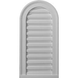 12 Inch W X 24 Inch H X 1 7 8 Inch P Cathedral Gable Vent Louver Non Functional Gable Vents Louver Vent Ekena Millwork