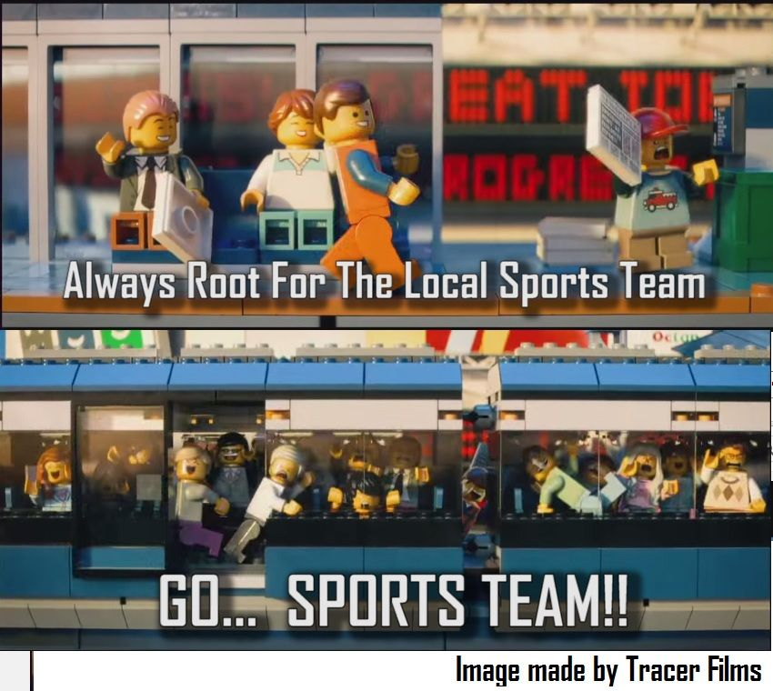 The Lego Movie Go Sports Team!!! ( image made by YouTube