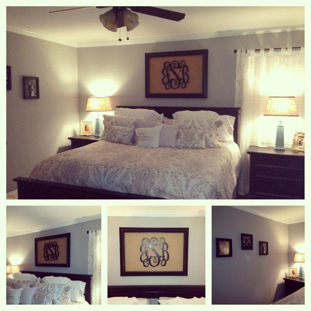 DIY monogram wall art | Home Sweet Home | Pinterest | Framed ...