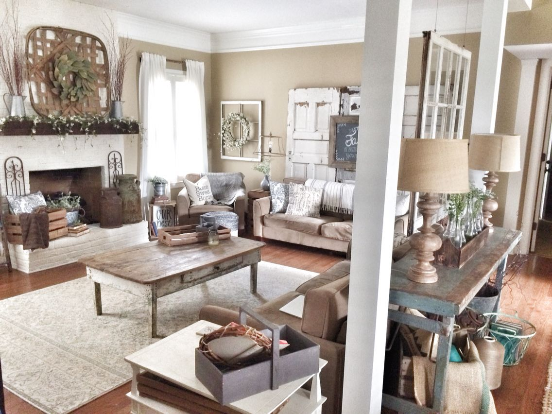 Farmhouse And Rustic Decor Living Room Farmhouse Style