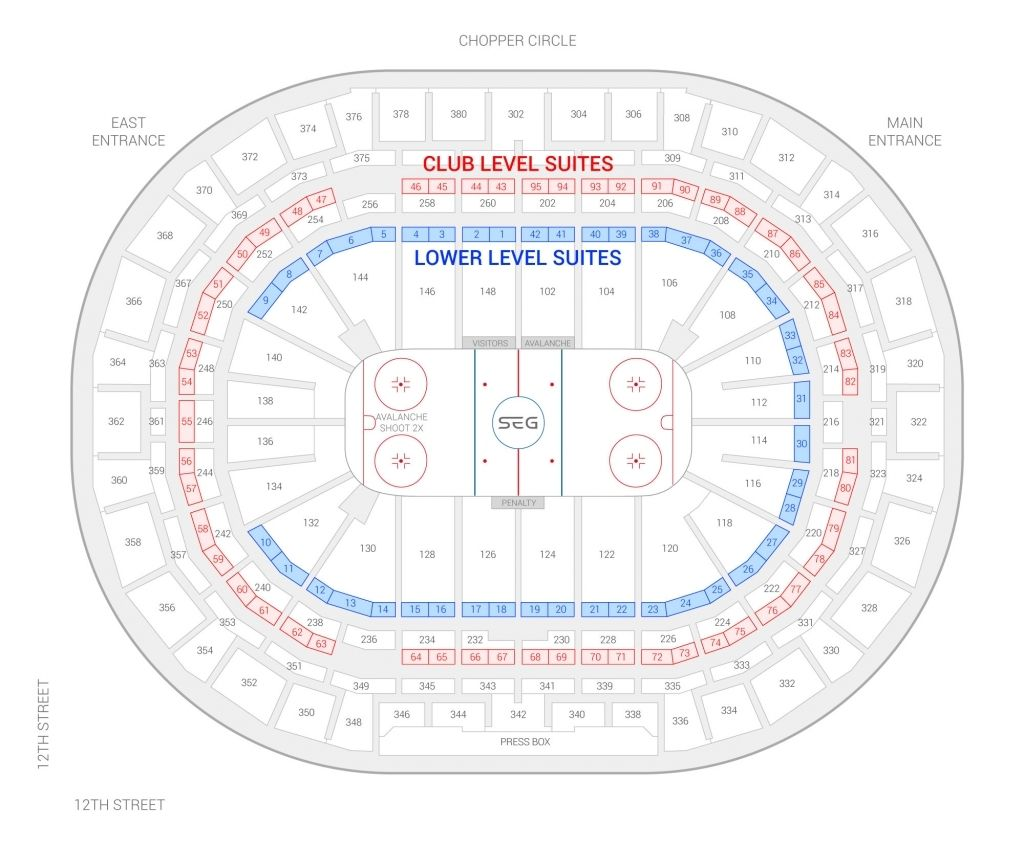 The Awesome Colorado Avalanche Seating Chart Seating Charts Colorado Avalanche Chart