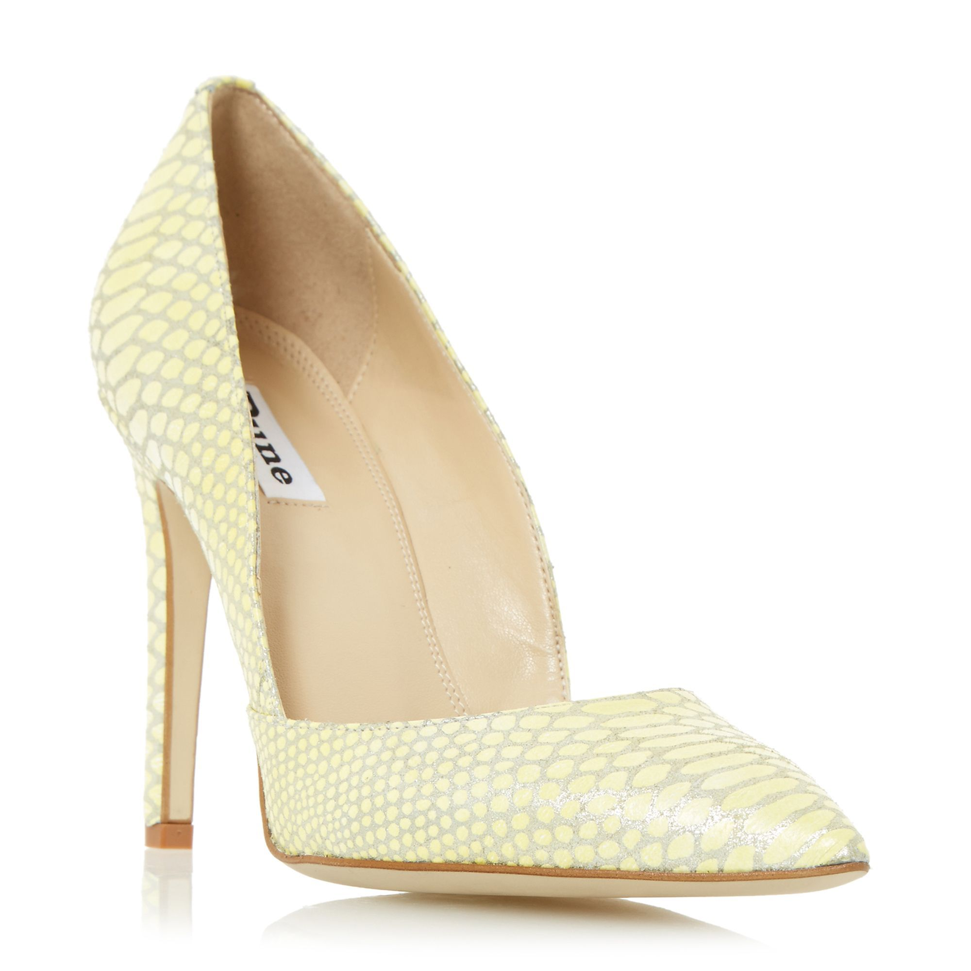 6287dd7beb2 Dune Alia two part pointed court shoes, Yellow | Ladies Shoes ...