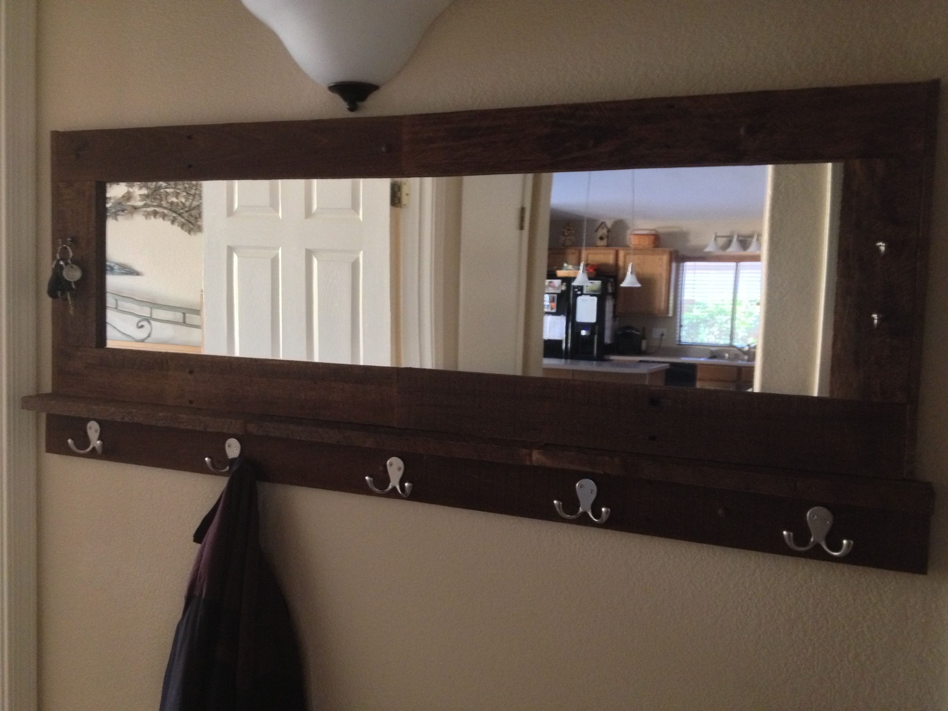 Pin By Diane Rainbow On Home Projects Diy Entryway Coat Rack Wall Shelves