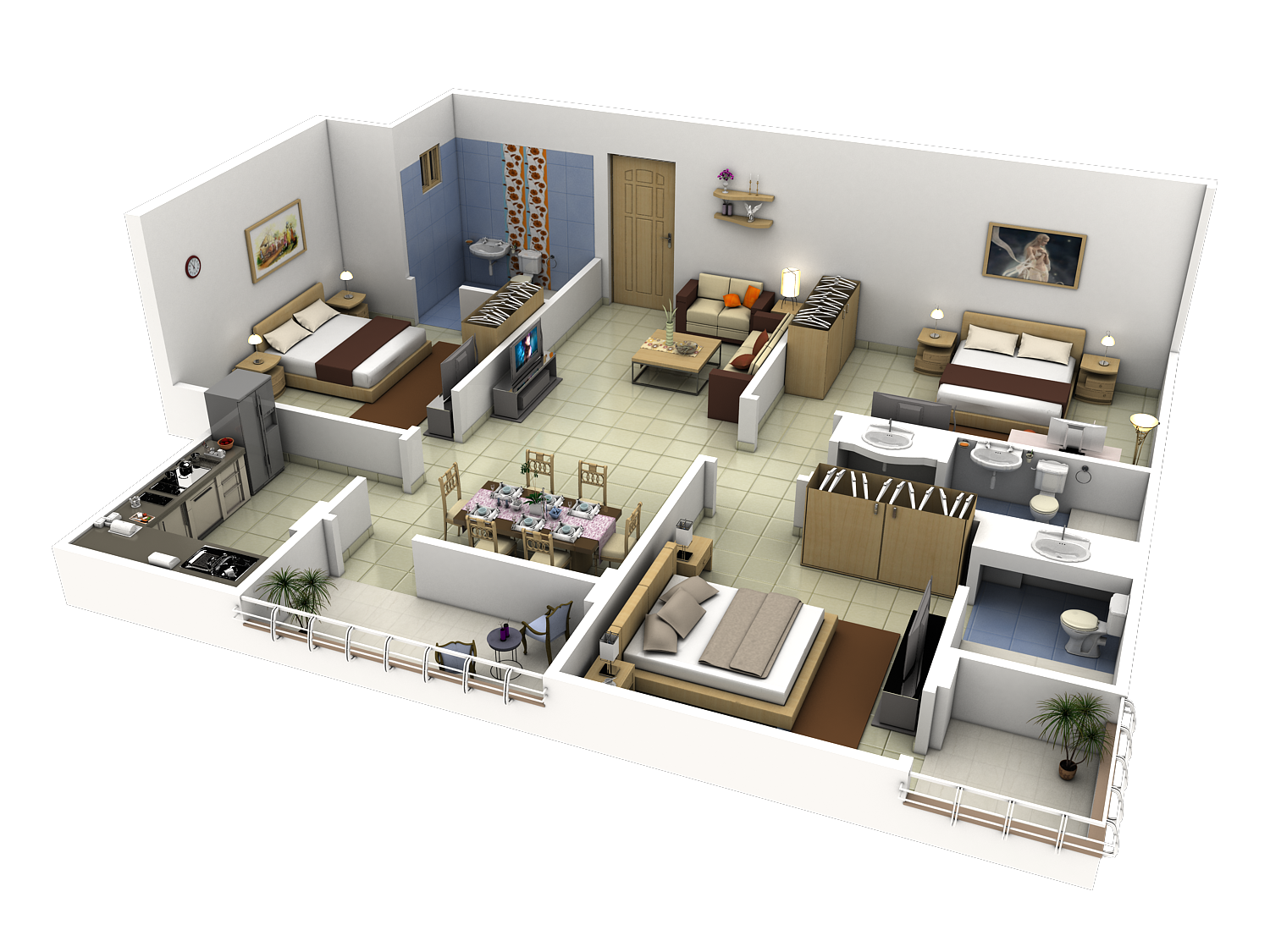 Tech n gen july 2011 renders pinterest tech house for 3d apartment floor plans