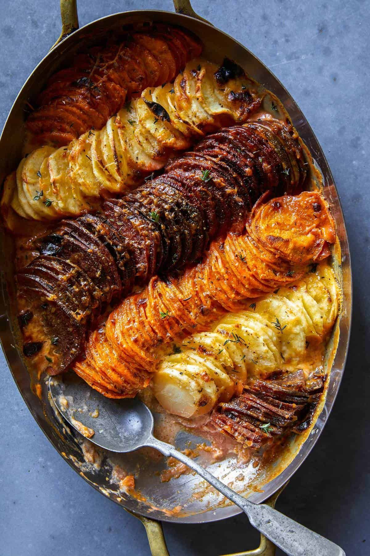 Cheesy Root Vegetable Gratin | Spoon Fork Bacon
