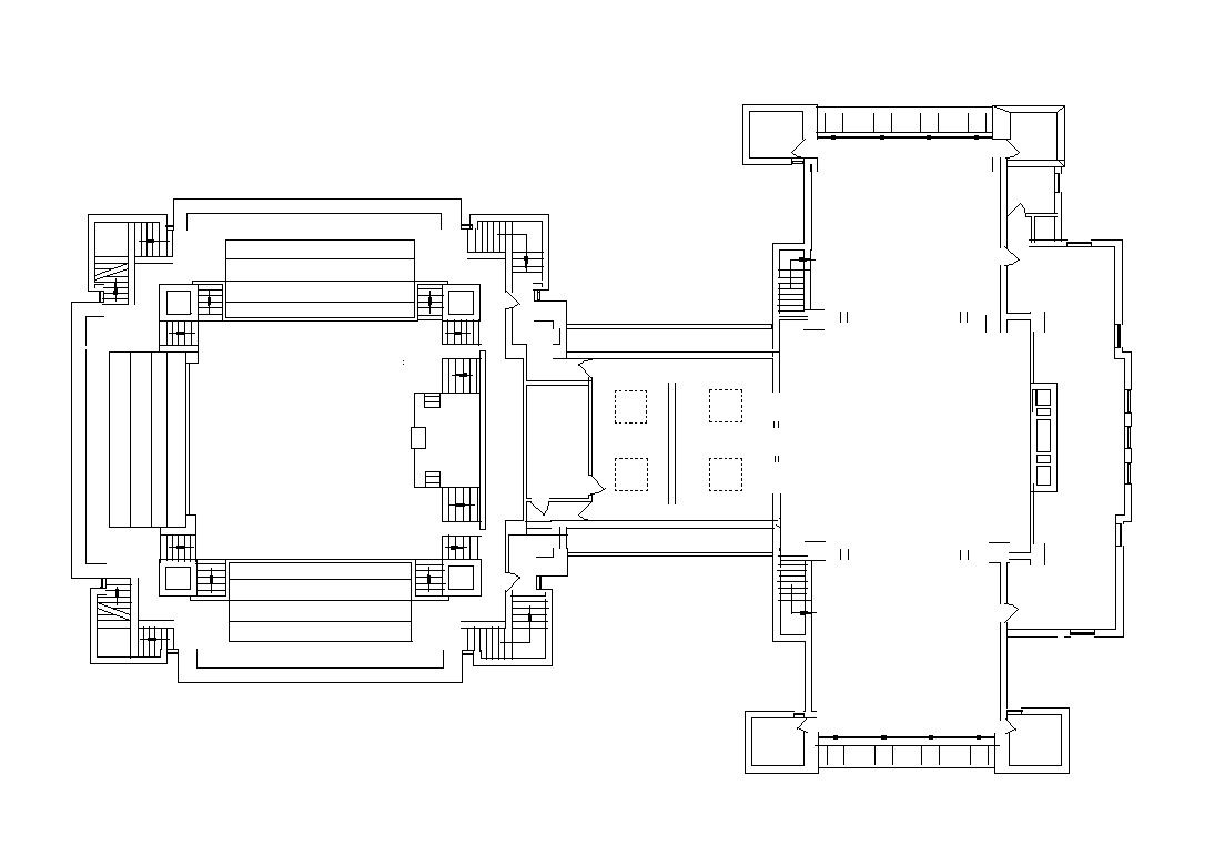 Unity temple frank lloyd wright free cad blocks drawings download center famous