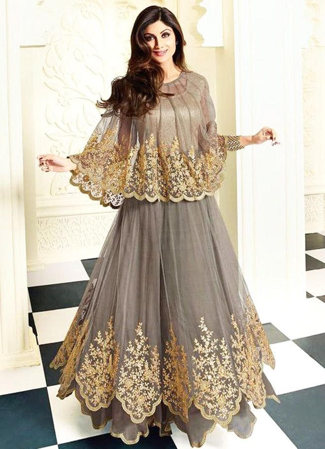 d6e25f76b Latest Pakistani Cape Style Dresses 2017-2018 Designer Collection ...