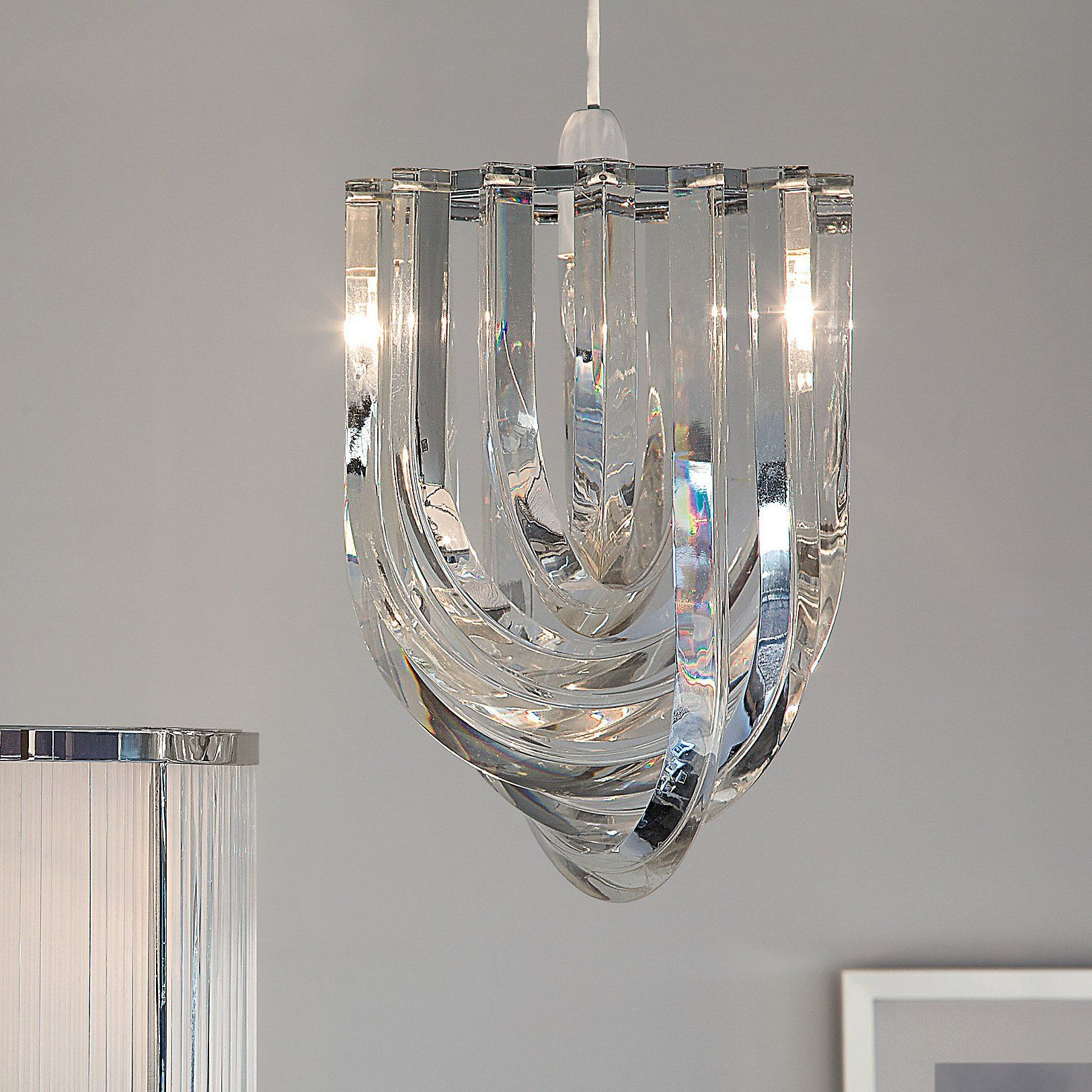 Deco Chandelier Light Shade | White company, Chandeliers and Ceiling ...