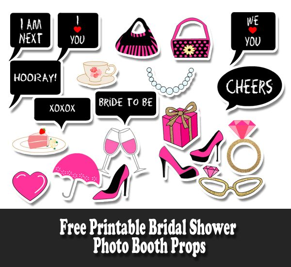 cc17fa477 Free Printable Bridal Shower Photo Booth Props Bridal Shower Props