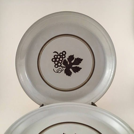Ben Seibel Mikasa Vineyard Dinner Plates Vintage Midcentury : dinner plate with lip - pezcame.com