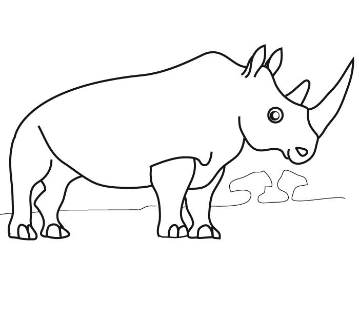 Coloriage En Ligne Rhinoceros.Coloriage Rhinoceros Apprendre A Dessiner Coloriage