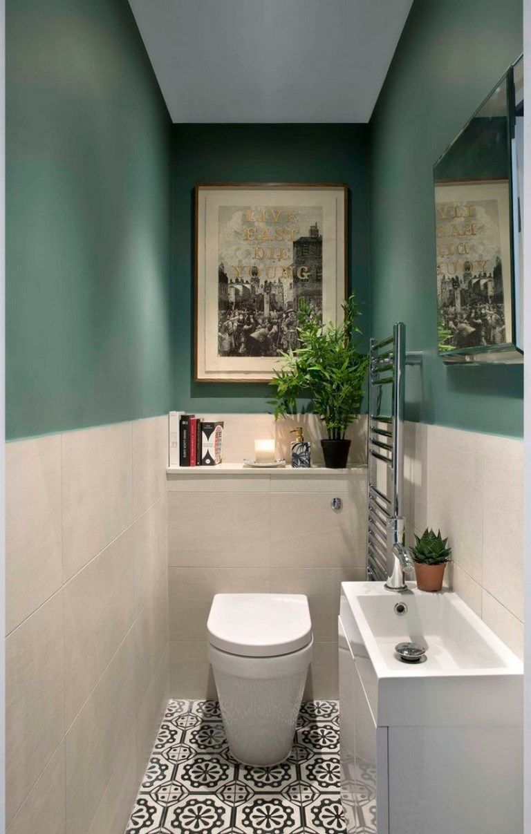 46 Stunning Small Bathroom Makeover Ideas 28 En 2020 Banos