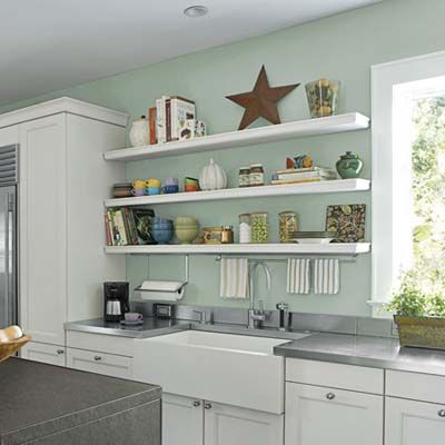 Wall Mounted Kitchen Shelves 100 Diy Upgrades For Under $100  Wall Mounted Shelves Mounted