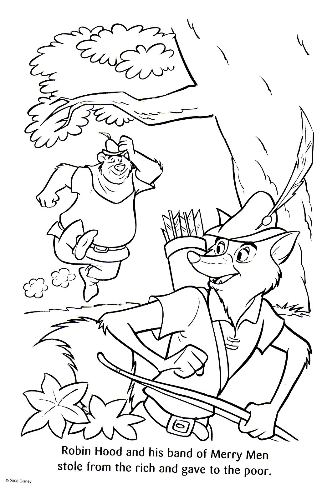 Disney coloring pages robin hood coloring pages pinterest
