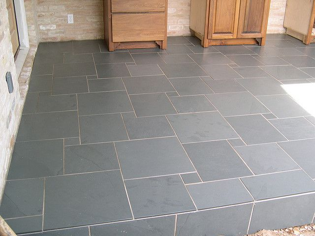 slate tile patio floor | Slate