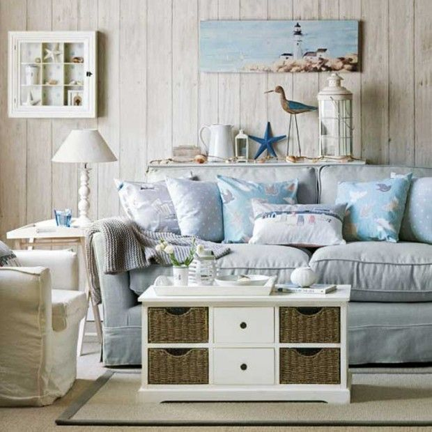 Nautical Living Room Design | ... Form Of Starfish Fit Harmoniously Into  The Nautical Part 51