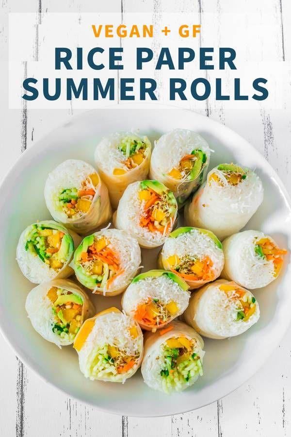 Vegan Rice Paper Summer Rolls Gluten Free