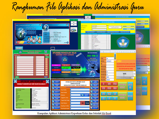 36 File Aplikasi Administrasi Guru Lengkap Operator