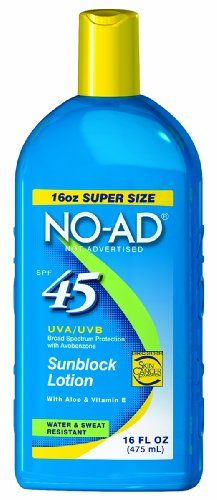 sunscreen NO-AD Sunscreen Lotion SPF 45 -- 16 fl oz * Check this awesome product by going to the link at the image.