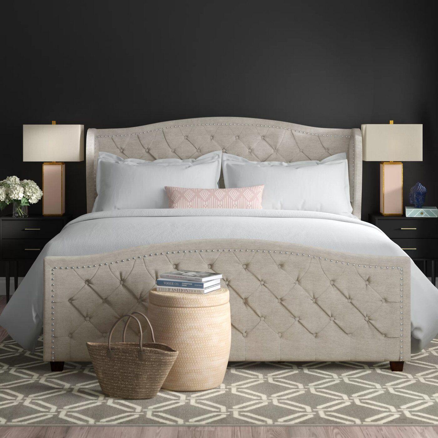 Hollington Upholstered Panel Bed Bed headboard design