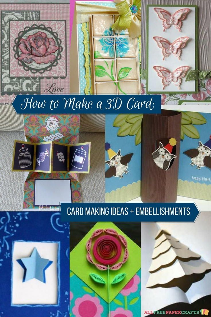 Paper Craft Card Making Ideas Part - 50: How To Make A 3D Card: 23 Card Making Ideas | Learn How To Make