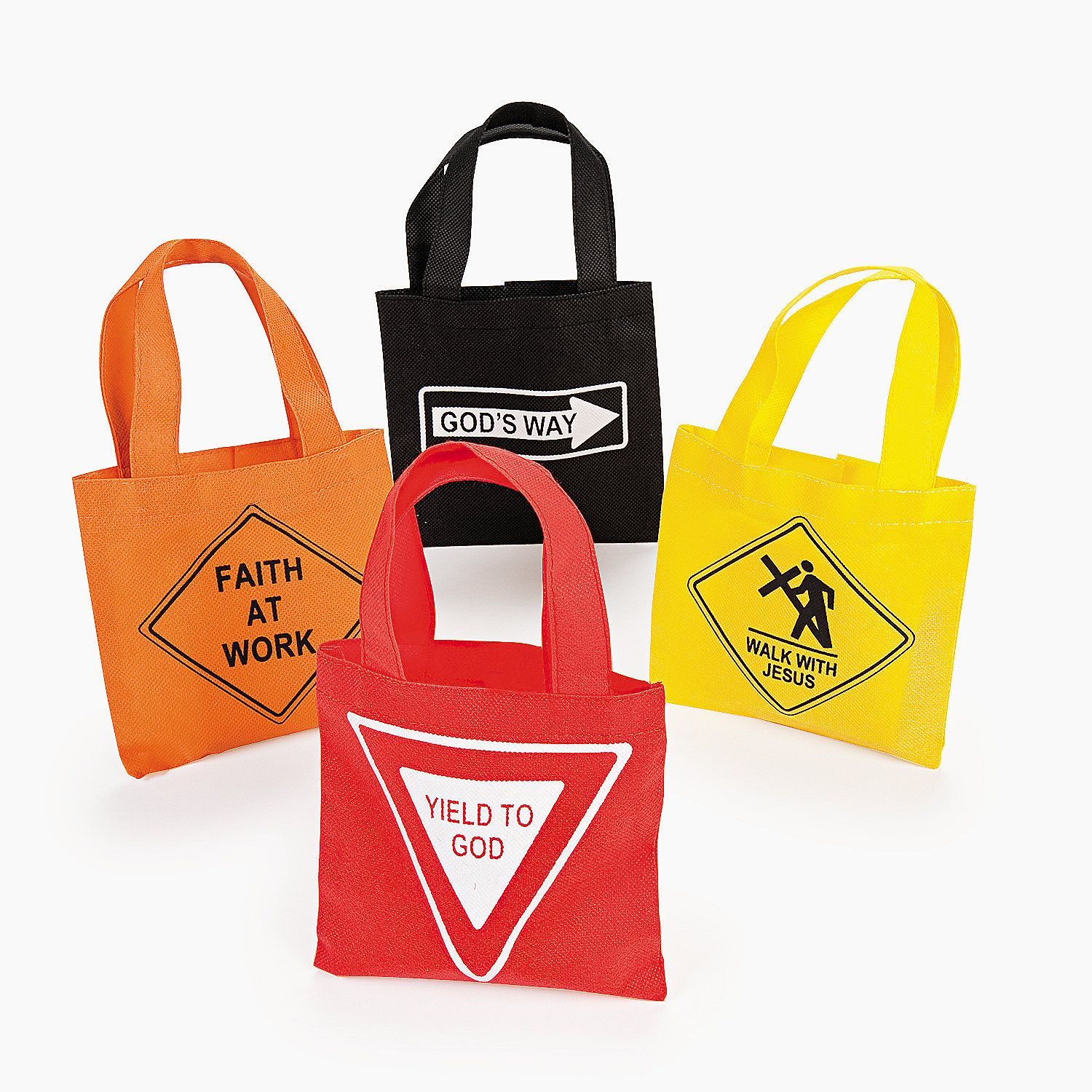 Small Religious Road Sign Totes - OrientalTrading.com