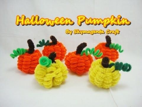 Pipe Cleaner Craft Halloween Pumpkin Quick And Easy