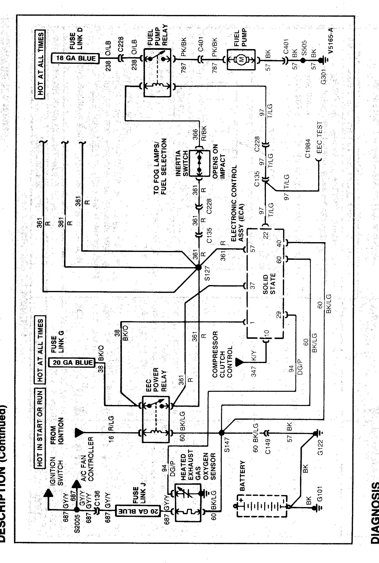 Ford Taurus Charging System Wiring Diagram In