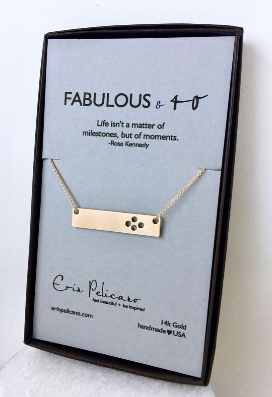 40th Birthday Bar Necklace Handcrafted Makes A Perfect Gift For Her Gifts 30th Wife