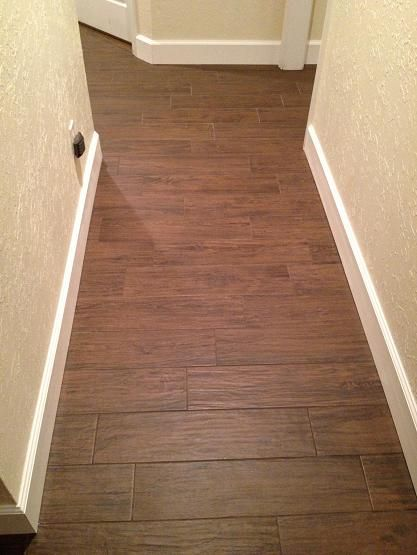Transition Of Plank Tile From Room To Hallway Google
