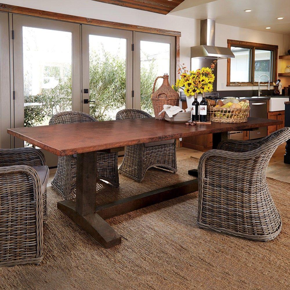 I want a Farmhouse Copper Table   Farmhouse dining room ...