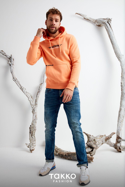 herren hoodies mit statement-print in frühlingsfarben