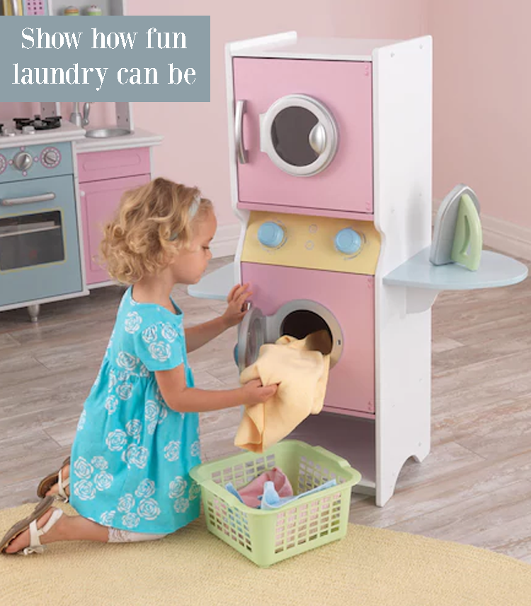 This Kidkraft Laundry Set Lets Young Kids Dry And Clean Their