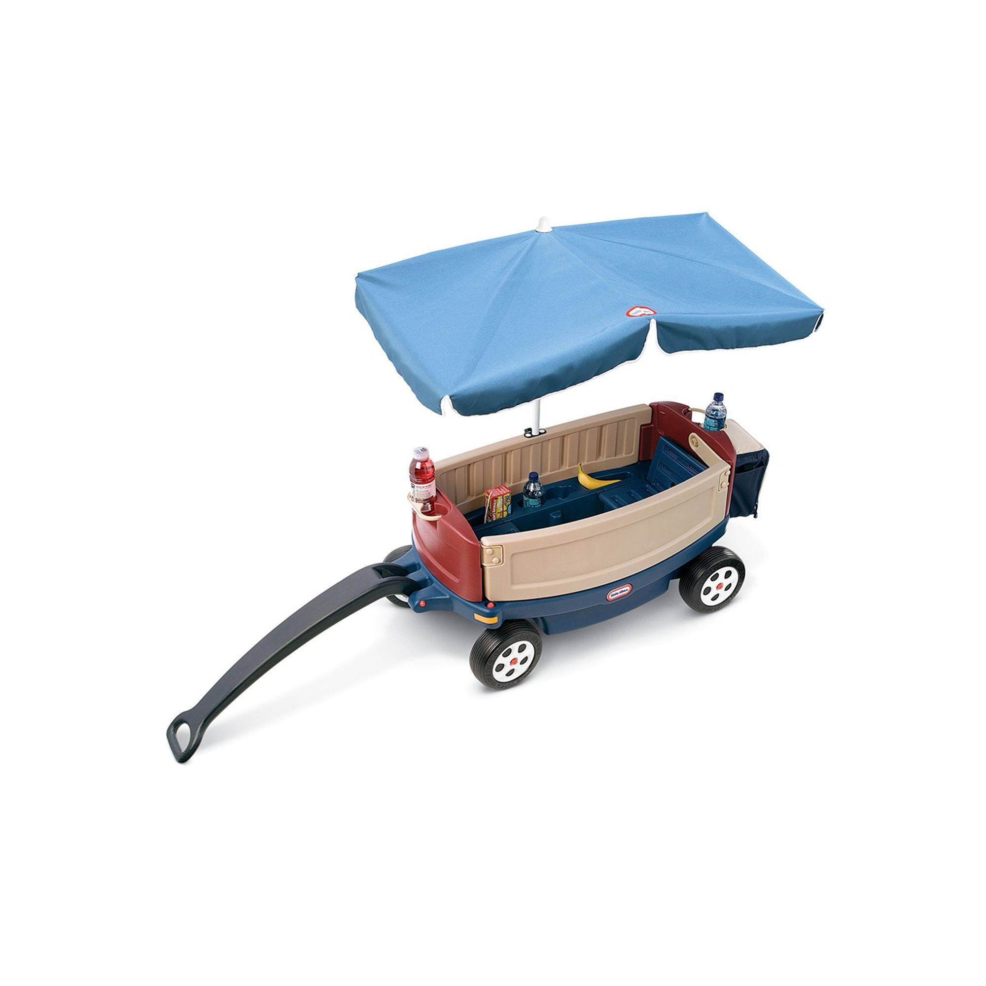 Little Tikes Deluxe Ride and Relax Wagon with Umbrella and Cooler Other Clrs