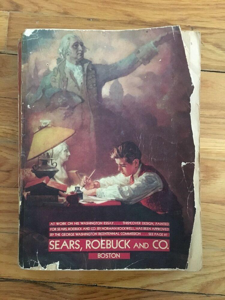 1932 Original Sears Roebuck & Co. Catalog Boston Norman
