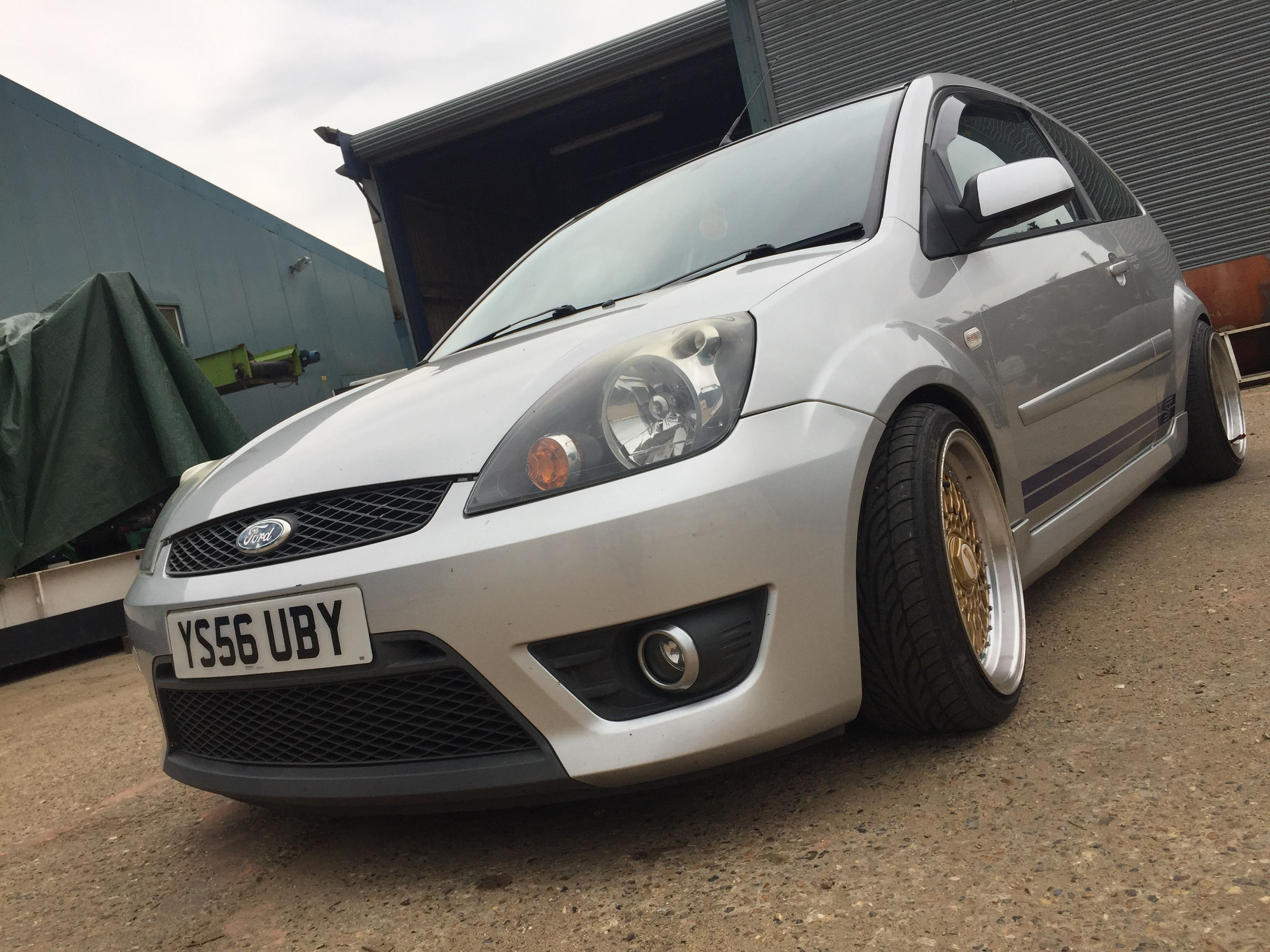 Ford Fiesta Mk6 St 150 Lowered On Coilovers Bbs Style 16 Inch