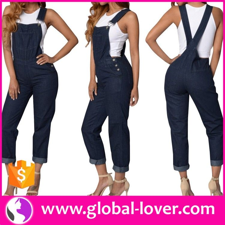 c96688fcf4c8 Sexy Open Front Sleeveless Skin Tight Rompers Jumpsuits Jean Women 2016