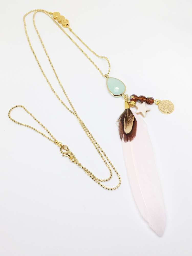 Light as a Feather - gold/ mint
