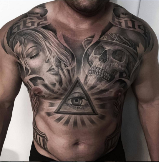 Tattoo Ideas Magazine: Skull Tattoos, Tattoos, Chest Tattoo