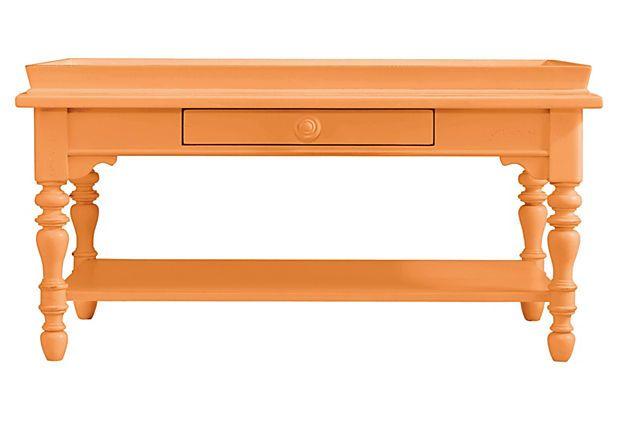 Sand Box Cocktail Table, Orange on OneKingsLane.com