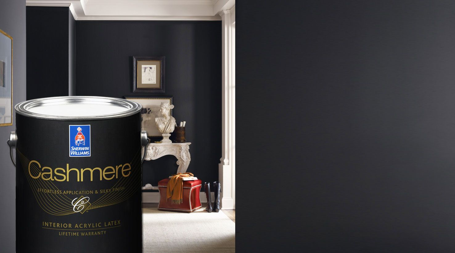 Sherwin williams bohemian black sherwin williams for Black interior paint