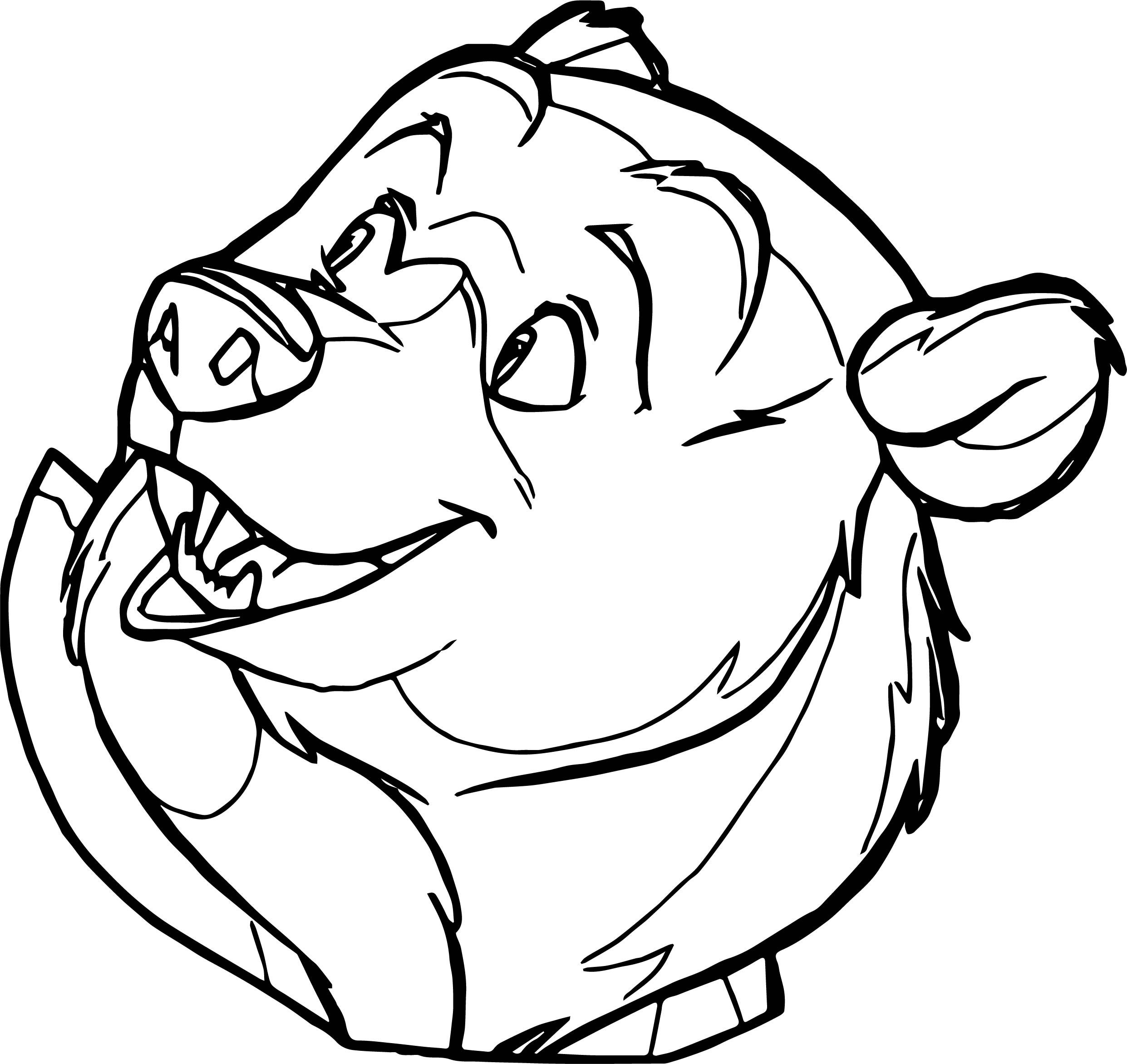 Awesome Bear Face Cartoon Coloring Page