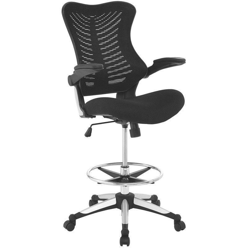Charge drafting chair black with images tall office