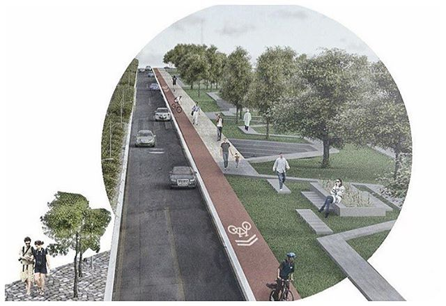 Linear park awesome landscape design and render by for Linear architecture design